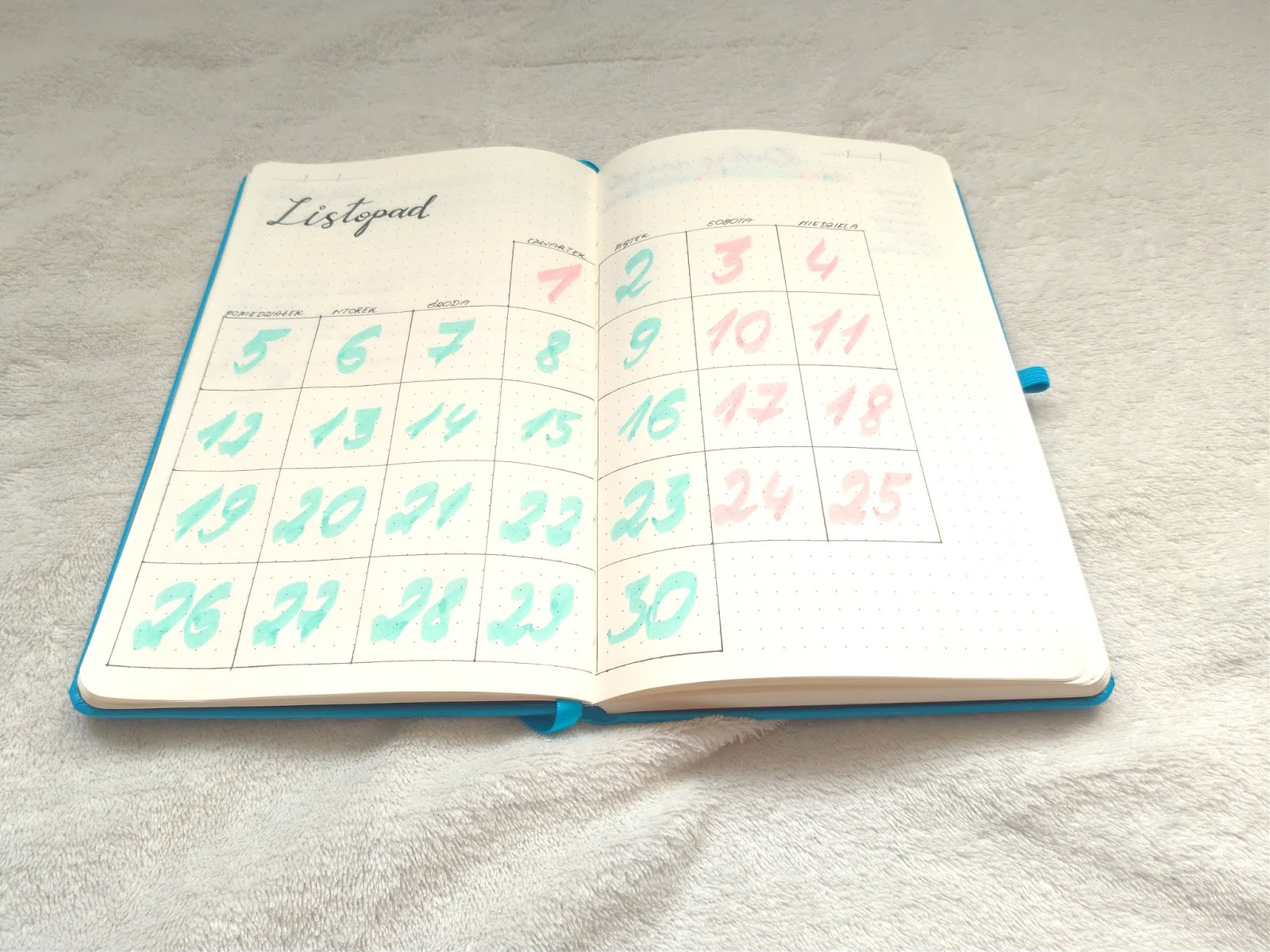 monthly log w Bullet Journal