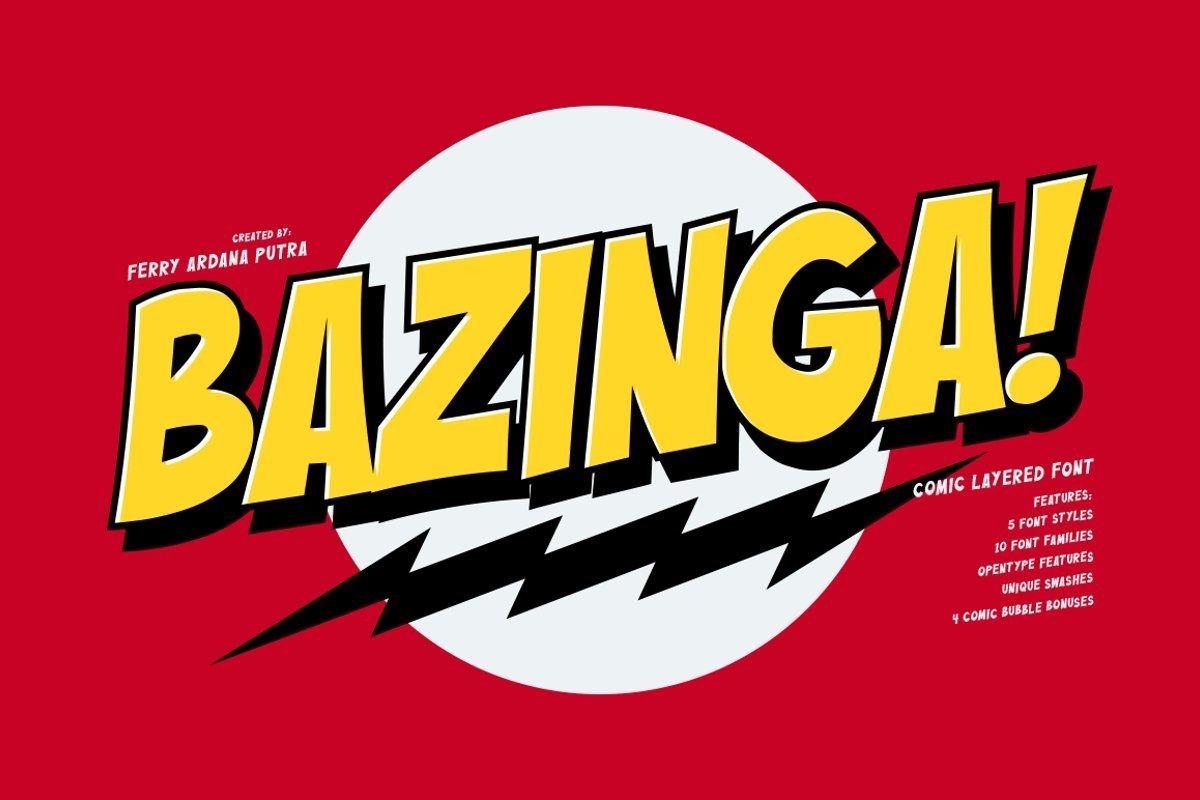 Bazinga Font - Free Display Comic Typeface