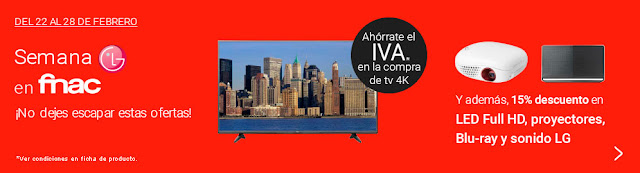 Promoción televisores LG en Fnac