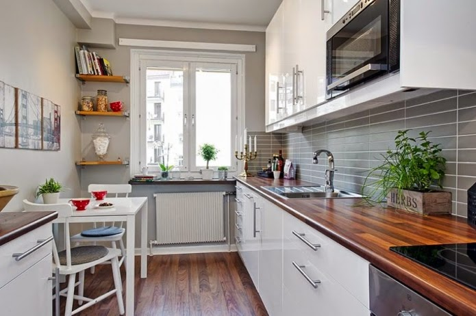 narrow kitchen island: white long narrow kitchen design
