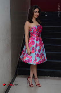 Actress Tamanna Latest Images in Floral Short Dress at Okkadochadu Movie Promotions  0188.JPG
