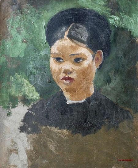 """Bức tranh """"Cô gái miền Bắc"""" vẽ năm 1934.họa sĩ người Pháp Joseph Inguimberty"""
