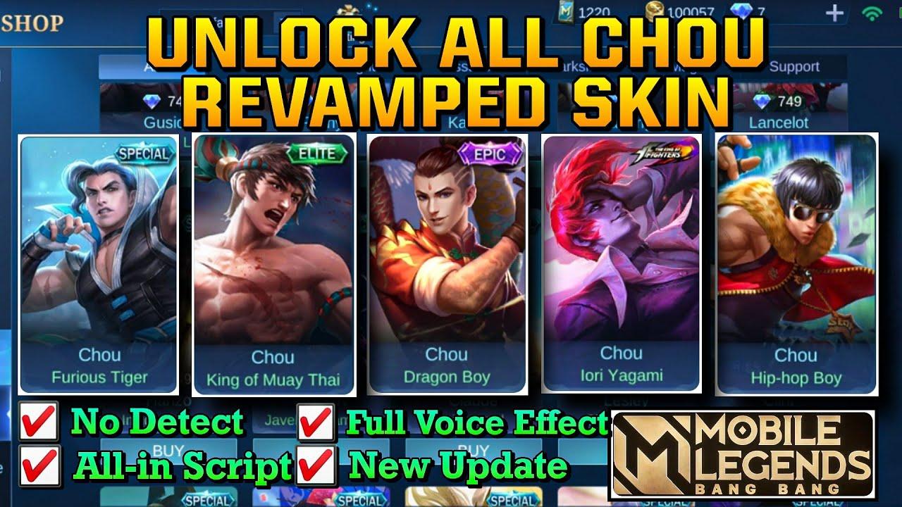 NEW] Script Unlock Skins Chou Mobile Legends 20   Moonton Free Skins
