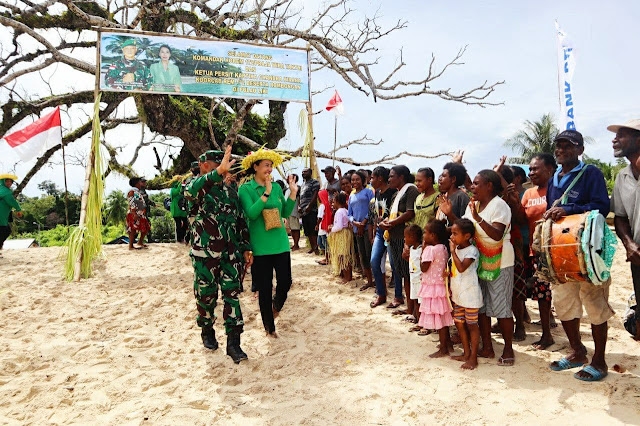 Brigjen TNI Izak Pangemanan Kunjungi Kodim 1712/Sarmi dan Pulau Liki