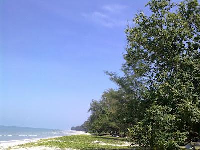 Tanjung Leman long stretch of beach