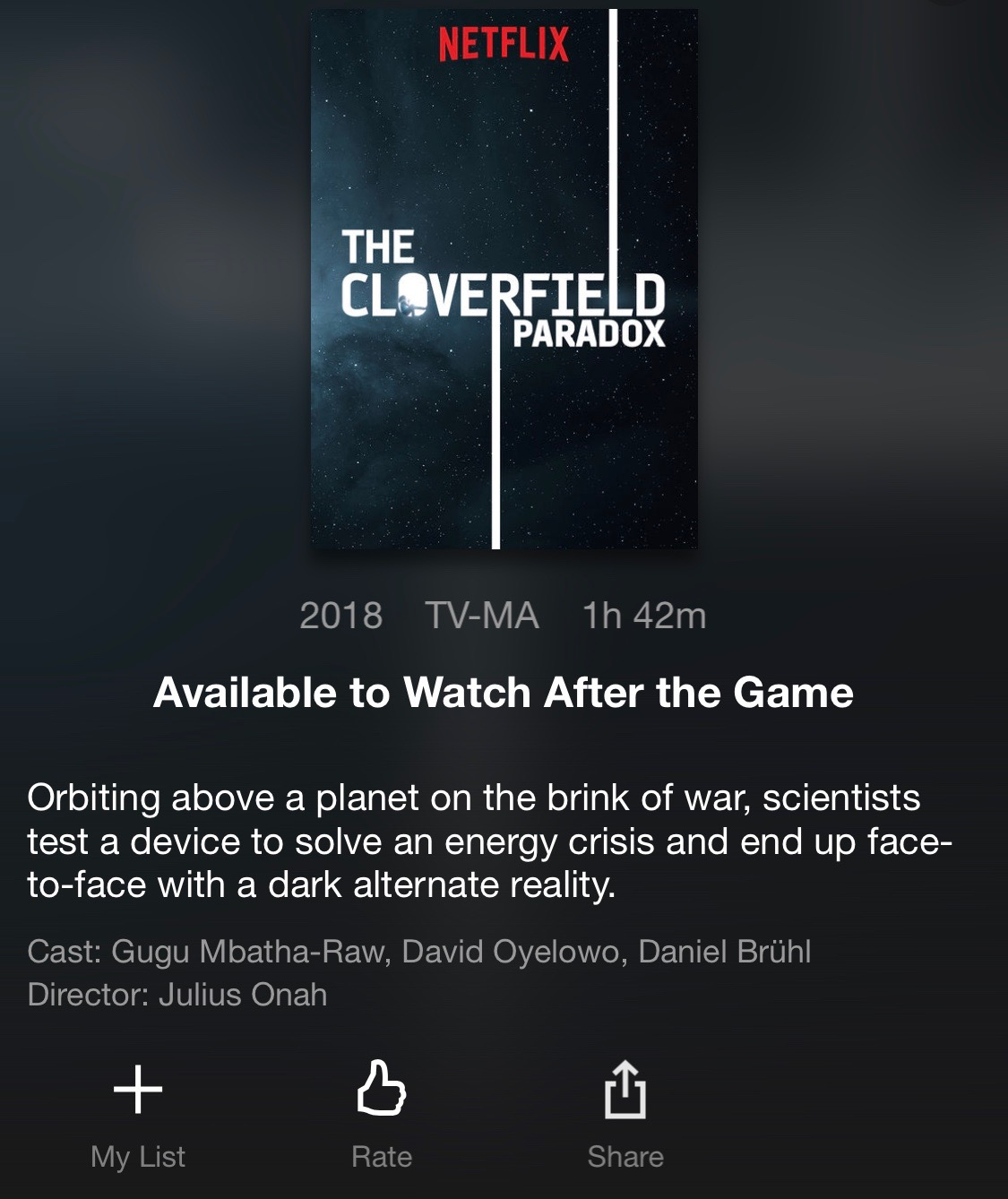 Cloverfield Clues: Cloverfield Paradox to debut on Netflix TONIGHT