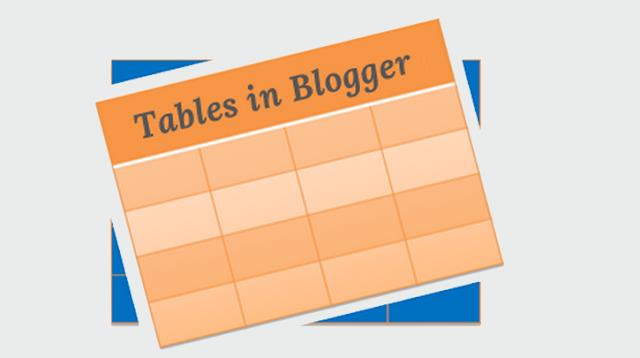 سوف تشكرني إليك طريقة لإضافة جداول إحترافية على بلوجر Blogger table