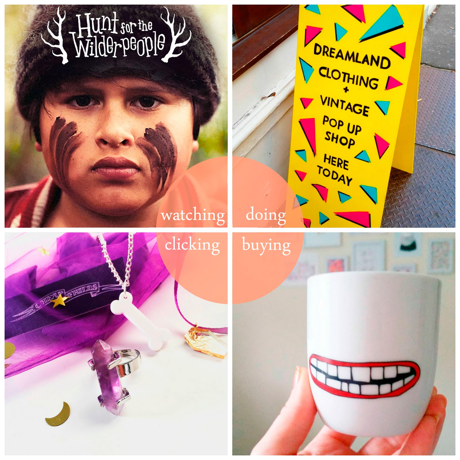 Round up, best bits, September 2016, blogger best bits, September highlights, blogger highlights, Scottish bloggers, Scottish blogging duo, Hunt for the Wilderpeople, Dreamland vintage sale, Tiger mouth cup, Cheap Frills halloween goodie bag