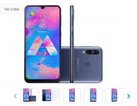 Smartphone Samsung Galaxy M30 64GB Azul 4G