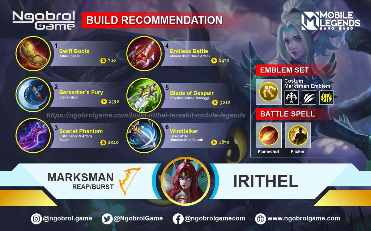 Build Irithel Savage Mobile Legends