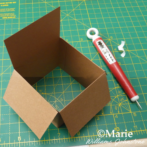 Showing the way the die cut pop up box card is assembled and stuck together