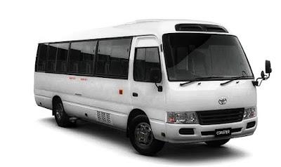 Toyota coaster mini bus in Bangladesh