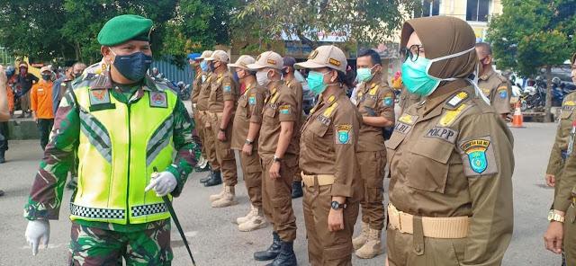 Tekan Penyebaran Corona Personel TNI-Polri di OKI Siaga Disiplinkan Warga