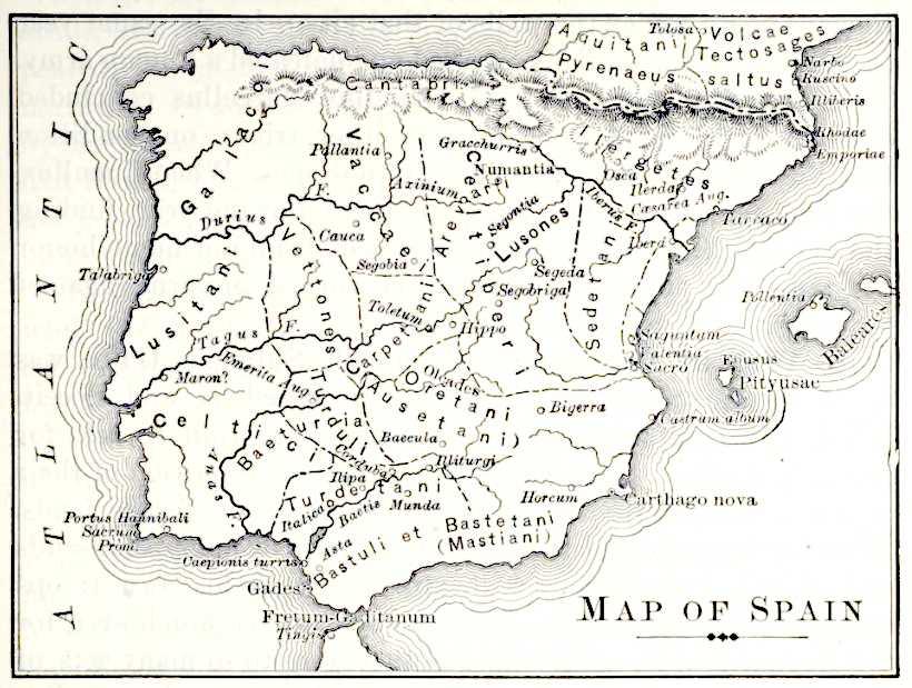 Cartina Spagna Romana.Storia Romana Mappa Della Spagna In Periodo Romano