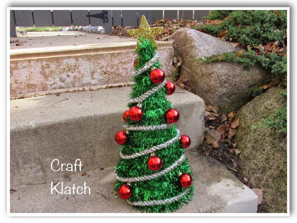 Dollar Tree Christmas Crafts.Craft Klatch Diy Dollar Store Christmas Tree Decoration