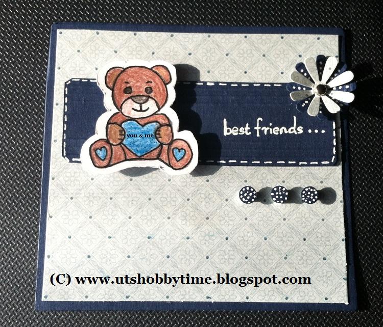 Uts Hobby Time Handmade Friendship Day Card