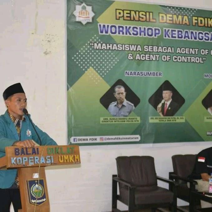 Ajak Generasi Bawa Perubahan, Dema FDIK UIN Mataram Gelar Workshop Kebangsaan