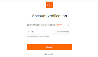 Code on Your phone - Mi Account - Xiomi Tips