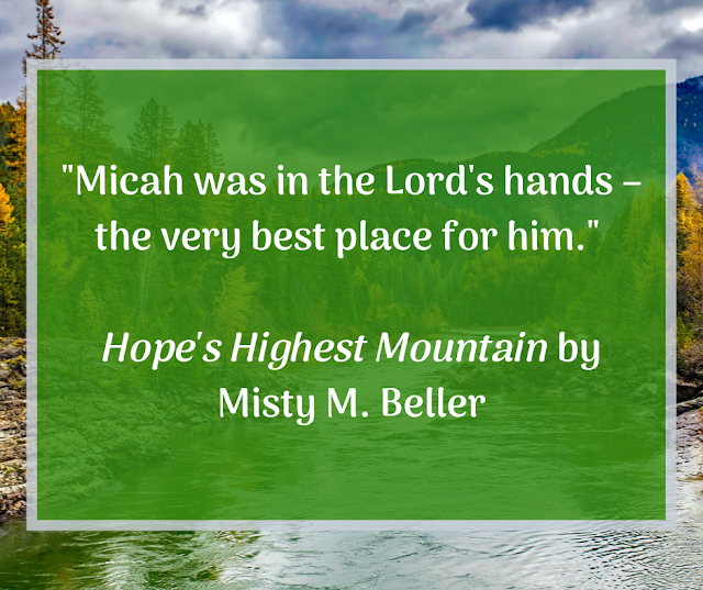 Quote: Micah was in the Lord's hands - the very best place for him.