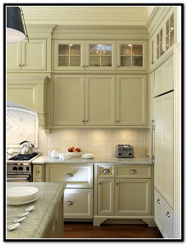 Dream Home Ideas: Kitchen Cabinets With Glass Doors On Top