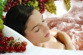 wine and grape spa