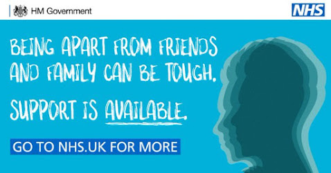 Being apart from family and friends is tough. Care for your mental health