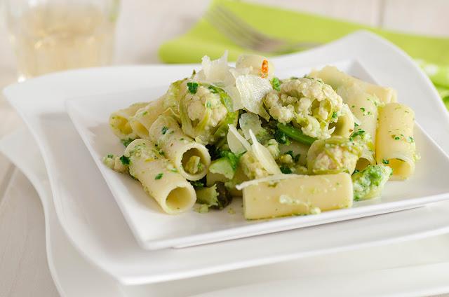 Pasta corta con broccoli nani di Bassano d. G.
