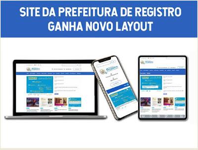 Site da Prefeitura de Registro-SP  ganha novo layout