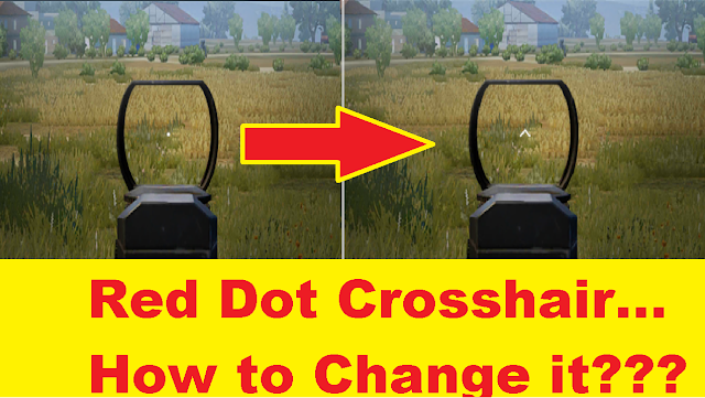 Change red dot sight to red arrow sight in PUBG Mobile