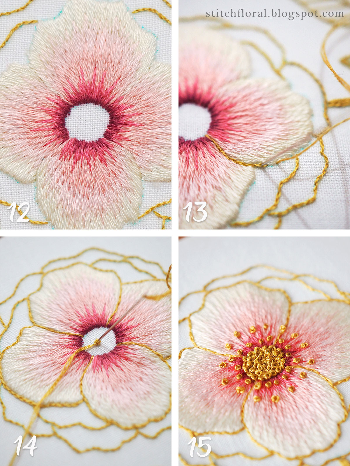 adding french knots to embroidery