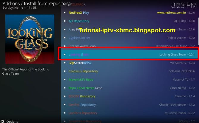 How to install Looking Glass Repository Kodi - Repo On Kodi