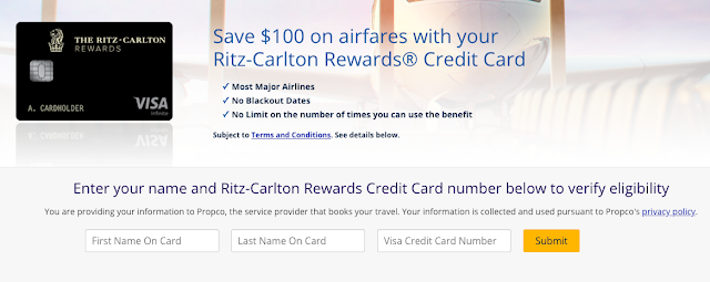 A Single Benefit I love About the Chase Ritz-Carlton Visa Infinite Credit Card: Unlimited $100 Airfare Companion Discount