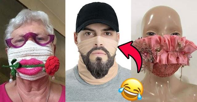 As máscaras mais inusitadas e engraçadas para se proteger do Coronavírus