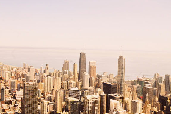 2 days in Chicago itinerary: view from Hancock Tower