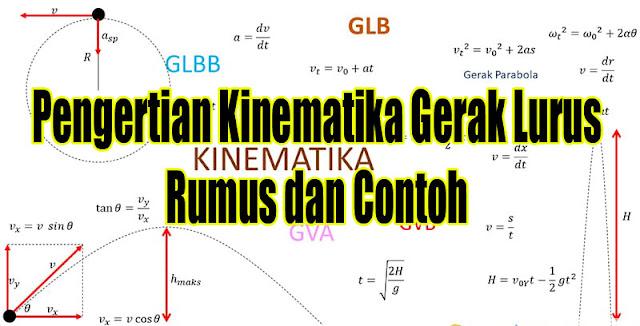 Pengertian Kinematika Gerak Lurus , Rumus dan Contoh