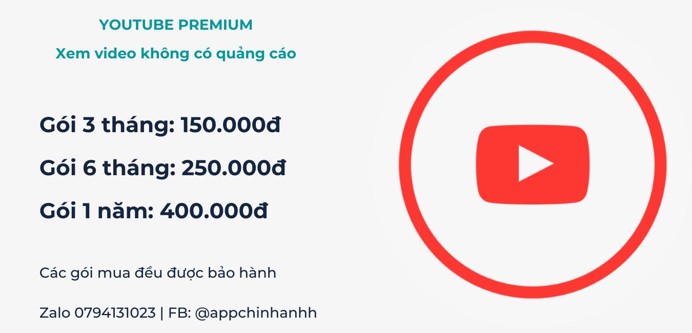 Tài khoản Youtube Premium giá rẻ