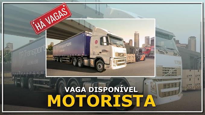 Transportadora TP abre vaga para Motorista carreteiro