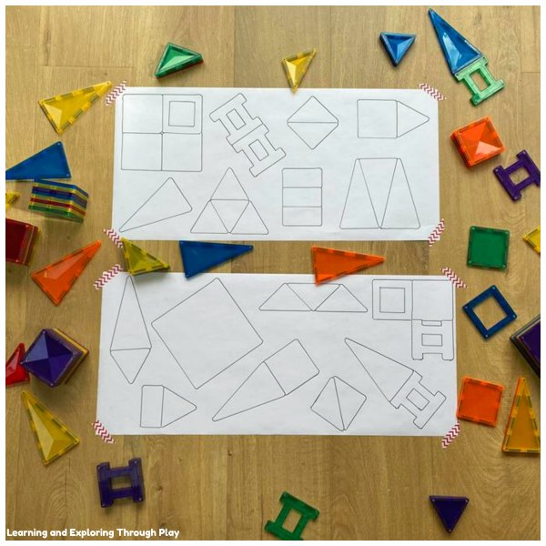 DIY Magnetic Tile Puzzles - Early Years Problem Solving