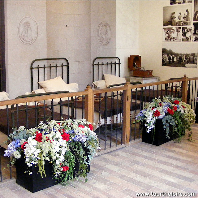 Recreation of the WWI hospital at the Chateau of Chenonceau. Indre et Loire. France. Photo by Loire Valley Time Travel.