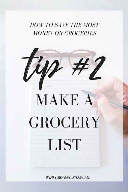 TIP MAKE A GROCERY LIST