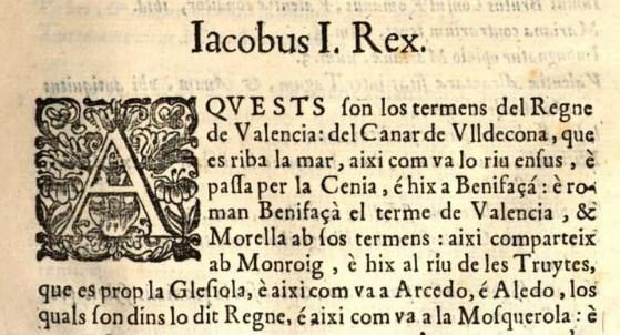 No existe texto en catalán que describa los términos geográficos de Cataluña antes que en valenciano los del Reino de Valencia. Traga les seues conclusions.