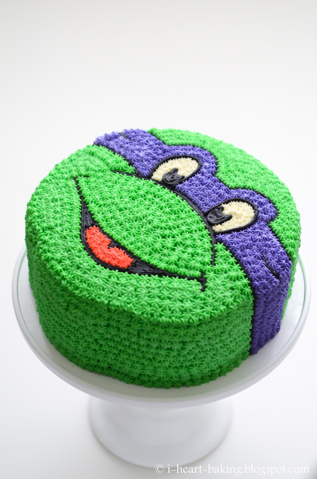 Teenage Mutant Ninja Turtle Face Cake
