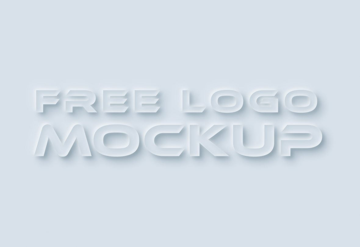 Neumorphism Logo Mockup