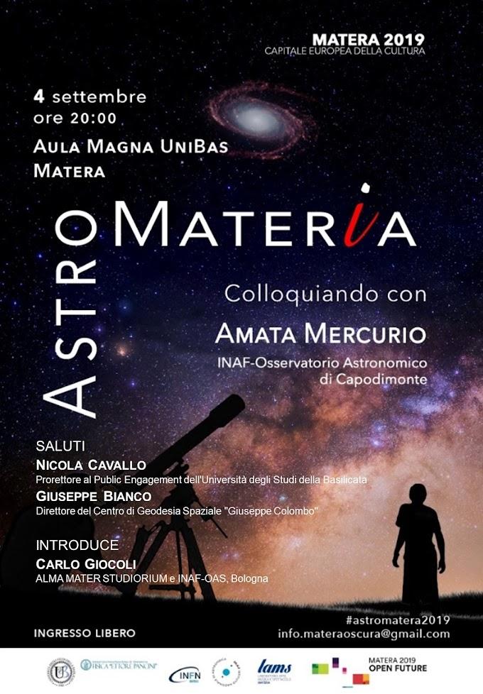 """Unibas: il 4/9 """"Astro Mater(i)a"""" con la ricercatrice Amata Mercurio"""