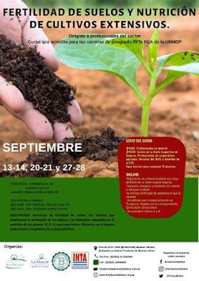 Curso de fertilidad de suelos en La Dulce, Necochea