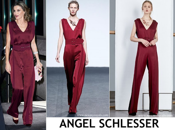 Queen Letizia wore Angel Schlesser Jumpsuit - Fashion Designers Fall Winter 2017 Collection