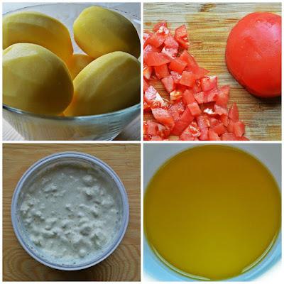 Euro 2016: zapiekanka ziemniaczana w dwóch smakach – serowo-czosnkowa i pomidorowo-paprykowa - składniki