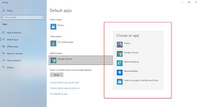 Cara Mengganti Browser Default Pada Windows 10 Terbaru