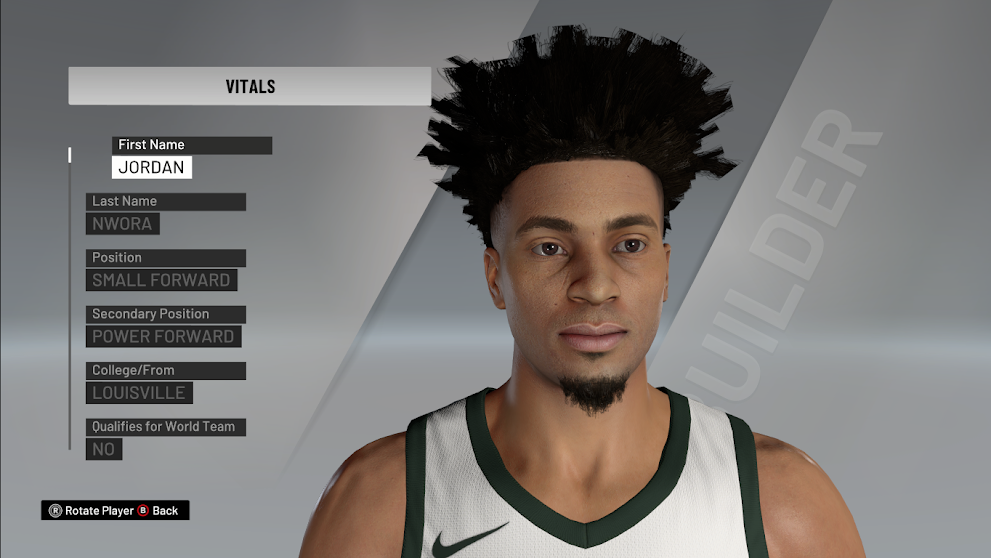 Jordan Nwora Cyberface Extracted From Patch 1.10 by 2kspecialist [FOR 2K21]