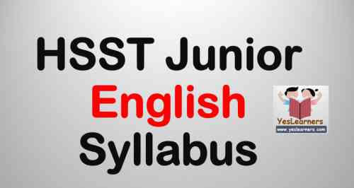 HSST Junior English Syllabus